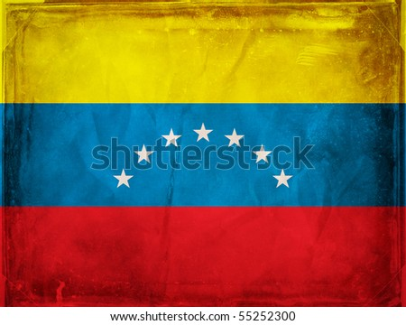 Grunge flag series -  Venezuela - stock photo