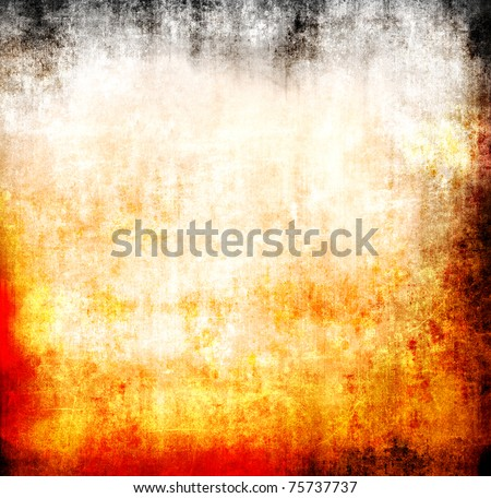 Grunge flame abstract template - stock photo