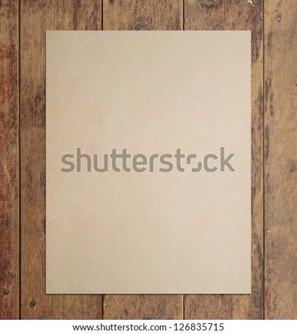 grunge floor wood texture with crafted poster - stock photo
