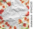 grunge floral background with space for text - stock photo