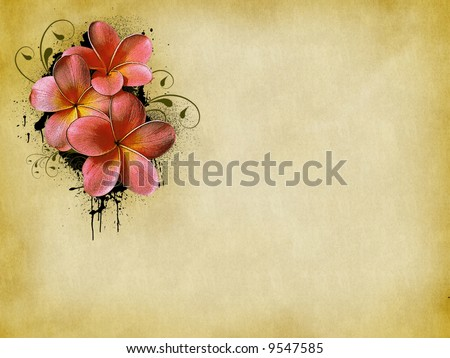 Grunge floral wallpaper or background (flyer, magazin, poster, webpage...)