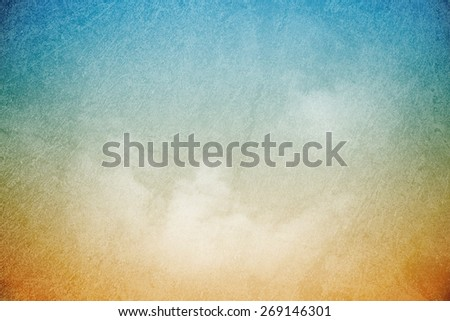 grunge fluffy cloudscape gradient abstract background - stock photo