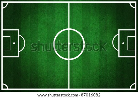 Grunge football field texture background - stock photo