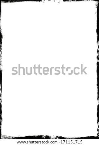 Grunge frame - stock photo