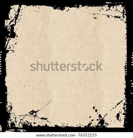 Grunge Frame Background - stock photo