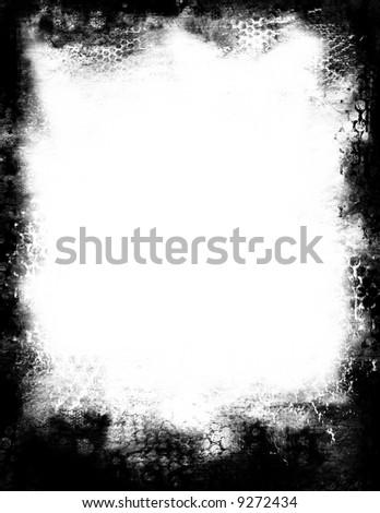 Grunge frame border - stock photo