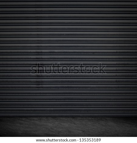 Grunge Garage Door Design - stock photo