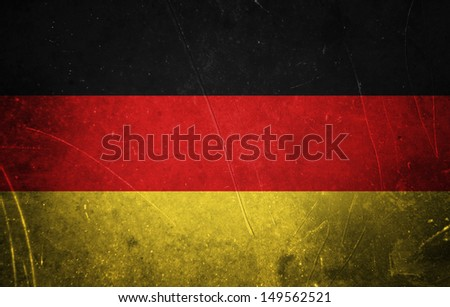 Grunge german flag with scratched stone texture