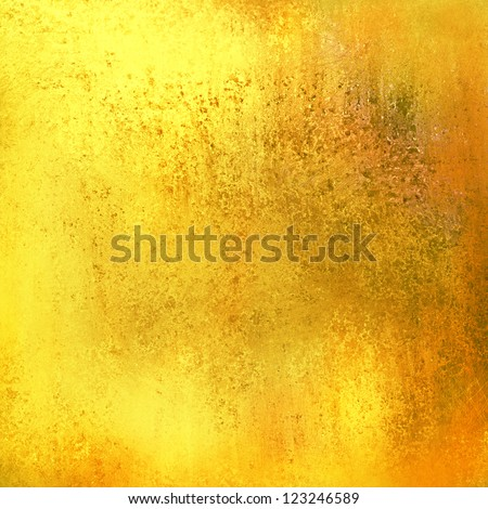 grunge gold background design layout, abstract yellow background warm brown color tone with vintage grunge background texture, bright elegant background, gold luxury patina or bronze or brass colors - stock photo