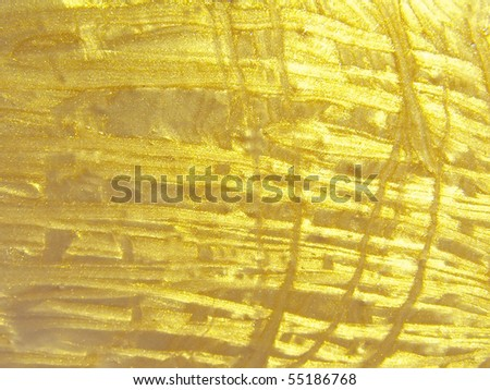 grunge gold hand drawn background, raster illustration - stock photo