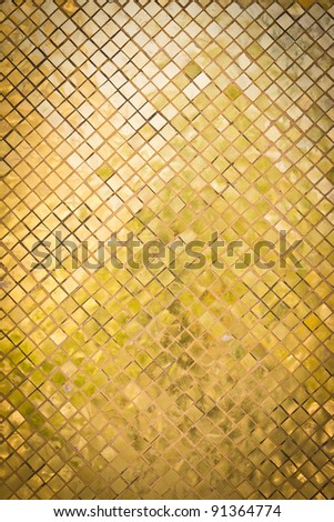 grunge golden mosaic for background - stock photo
