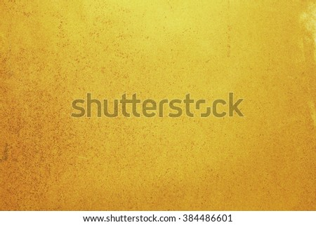Grunge golden wall texture background - stock photo
