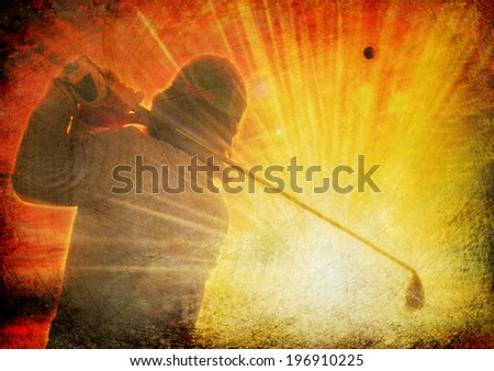grunge golf - stock photo