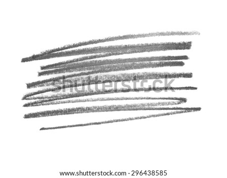 grunge graphite pencil line texture isolated on white background - stock photo
