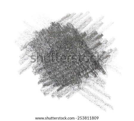 grunge graphite pencil texture isolated on white background - stock photo