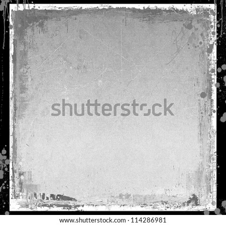 Grunge gray abstract background with borders - stock photo