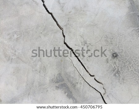 Grunge gray concrete crack wall texture background  - stock photo