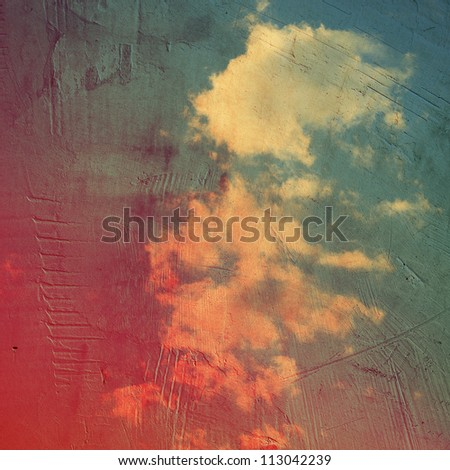 grunge gray paper texture, distressed background - stock photo