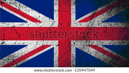Grunge Great Britain flag as a background or texture - stock photo