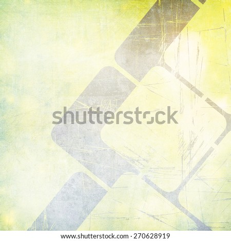 Grunge green background with abstract squares