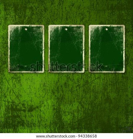 Grunge green background with ancient ornament for st Patrick - stock photo