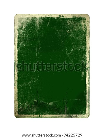 Grunge green card for st Patrick on the  white isolated background - stock photo