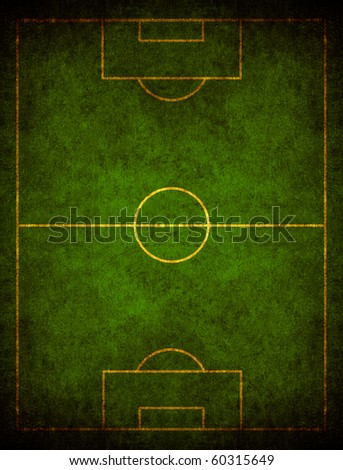 Grunge green football field seen by the sky - stock photo