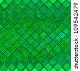 Grunge green mosaic, green background - stock photo