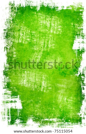 Grunge green template - stock photo