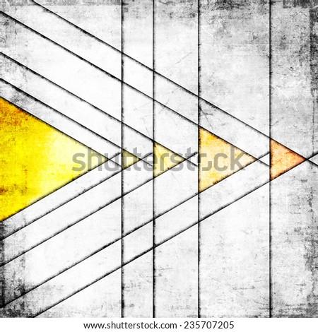 Grunge grey background with yellow - stock photo