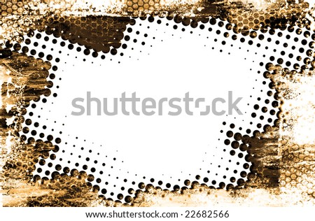 Grunge halftone background postcard