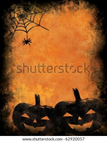 Grunge halloween background - stock photo