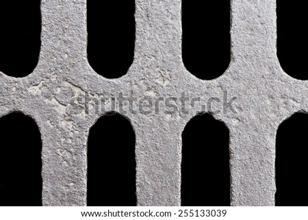 Grunge heavy metal drain grate texture.  - stock photo