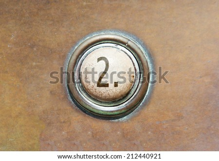 Grunge image of a button from the control area - 2 - stock photo