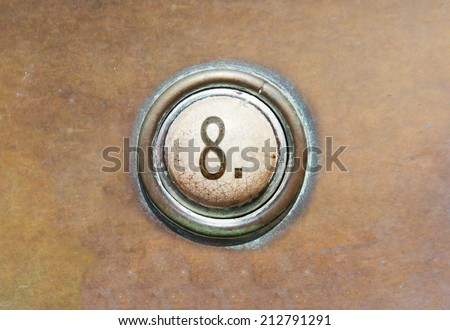 Grunge image of a button from the control area - 8 - stock photo