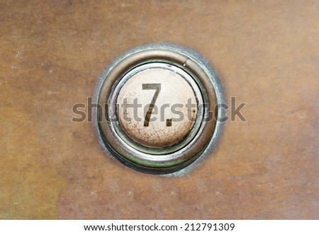 Grunge image of a button from the control area - 7 - stock photo