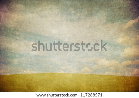 grunge image of a field - stock photo