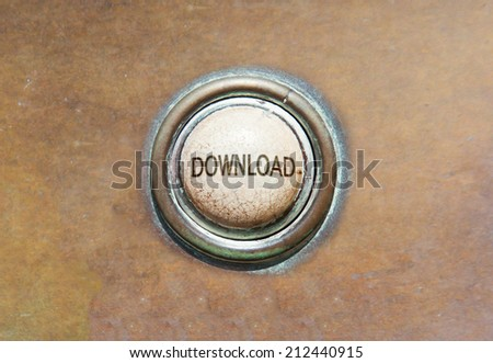 Grunge image of an old button - download - stock photo