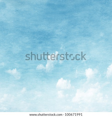 Grunge image of blue sky. - stock photo
