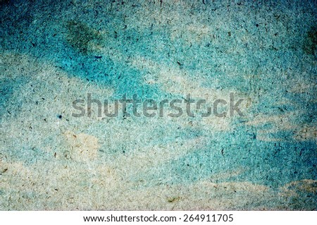 grunge image of blue sky with clouds - stock photo