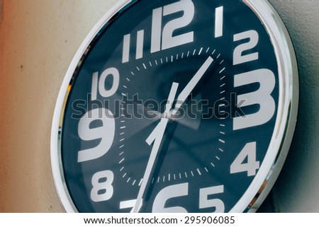 Grunge image of clockwise motion In a hurry - stock photo