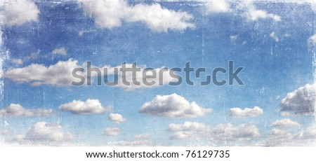 grunge image of sky - stock photo