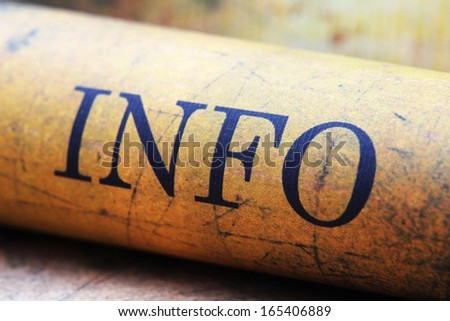 Grunge info text - stock photo