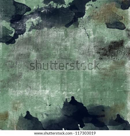 grunge ink splash texture - stock photo