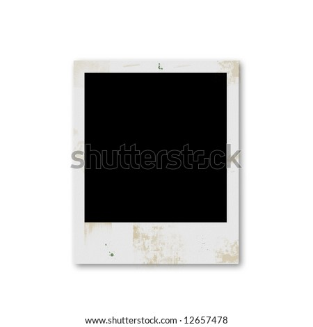 Grunge instant photo blank frame - stock photo