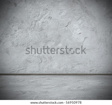 grunge interior - stock photo