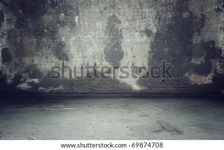 Grunge interior background 3d render - stock photo
