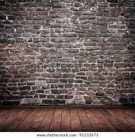 grunge interior room used as background. - stock photo