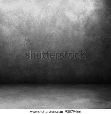 grunge interior used as background. - stock photo