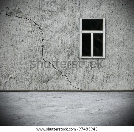 grunge interior with window